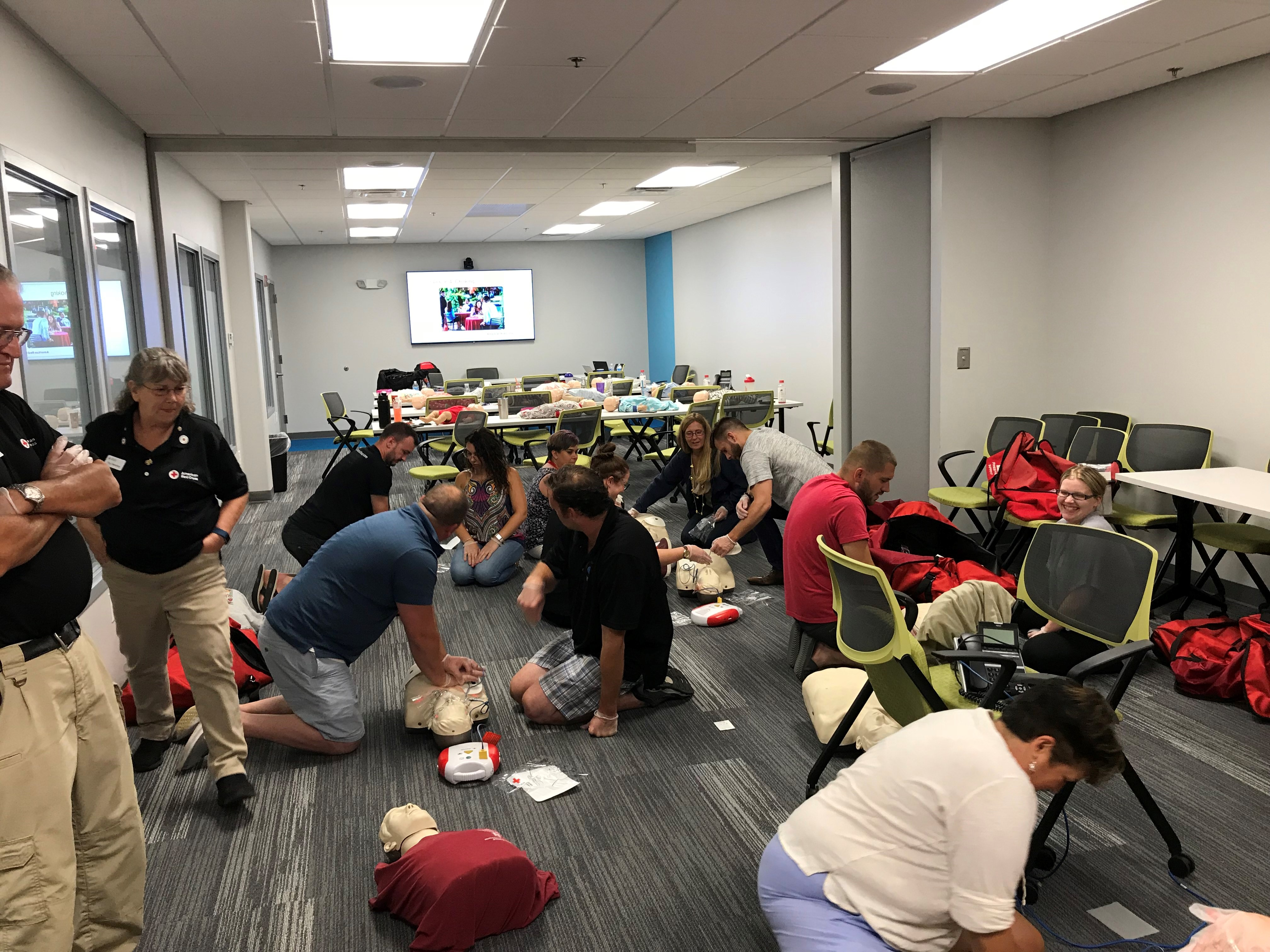 core medical group red cross employee cpr training blood drive workplace gives back