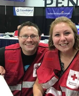 Core cares red cross volunteers