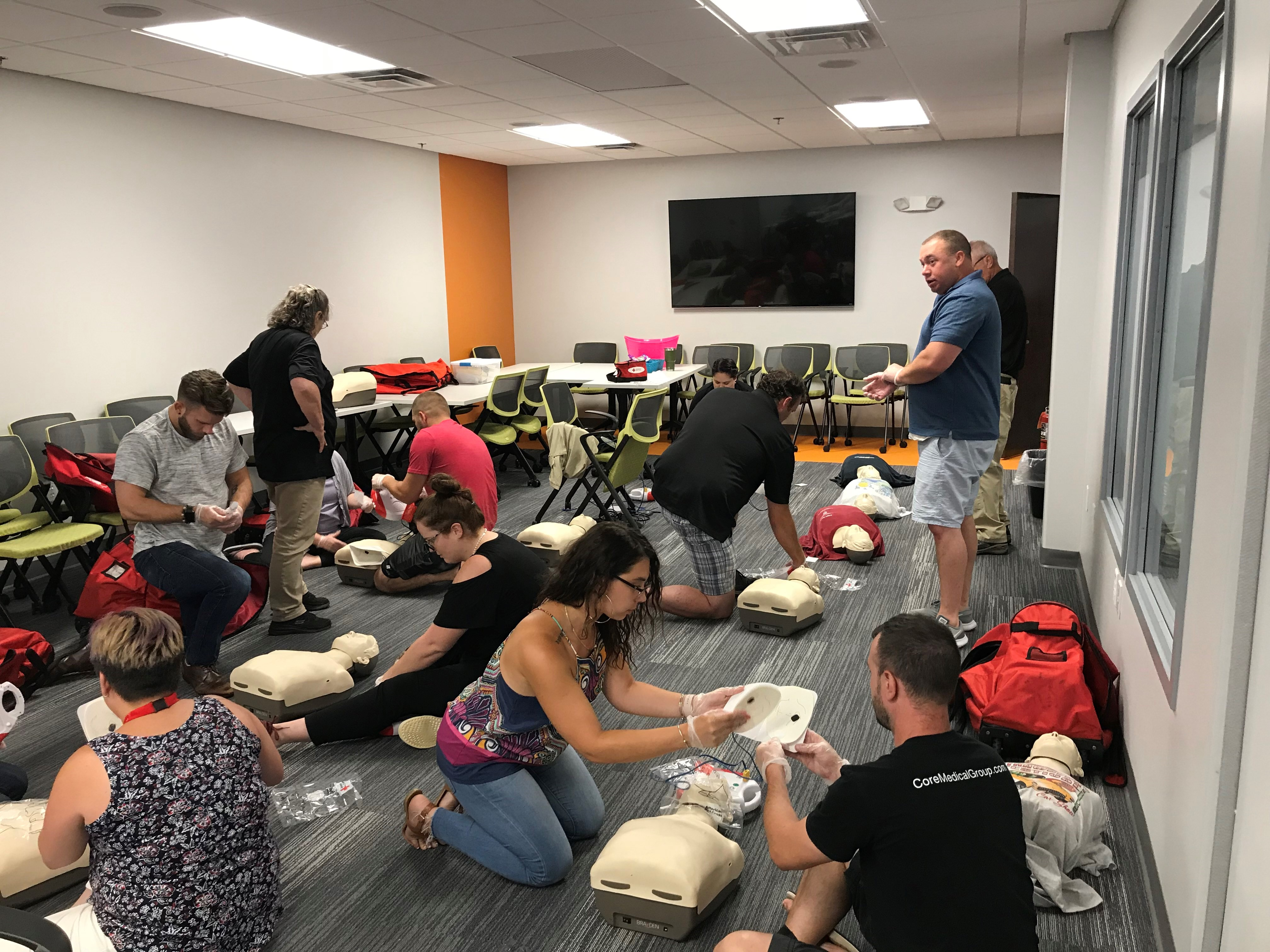 core medical group red cross employee cpr training