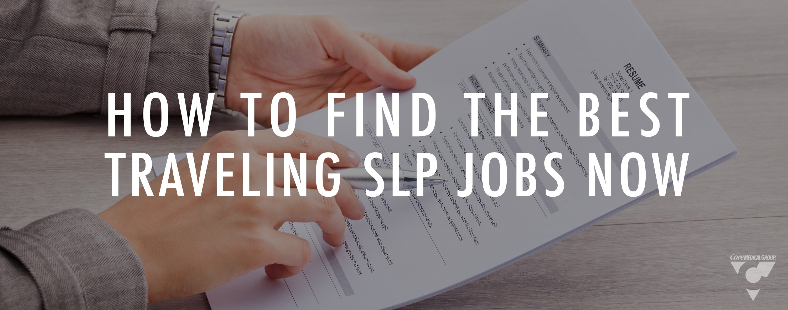 Learn how to find the best SLP jobs by working with a recruiter and knowing your industry