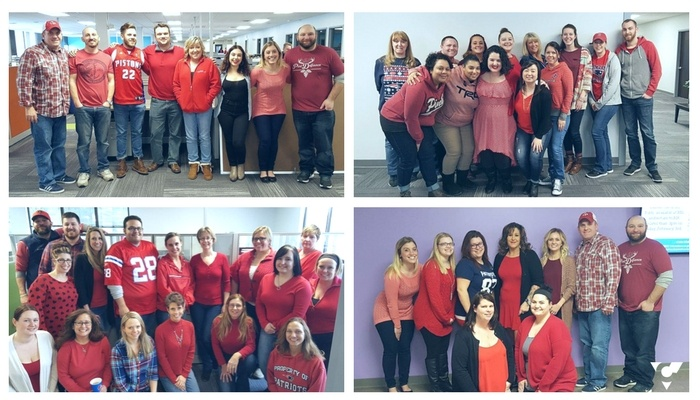 National Wear Red Day Team Photos