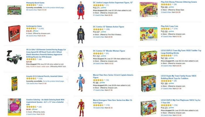 St. Jude Amazon Wishlist Selected Toys